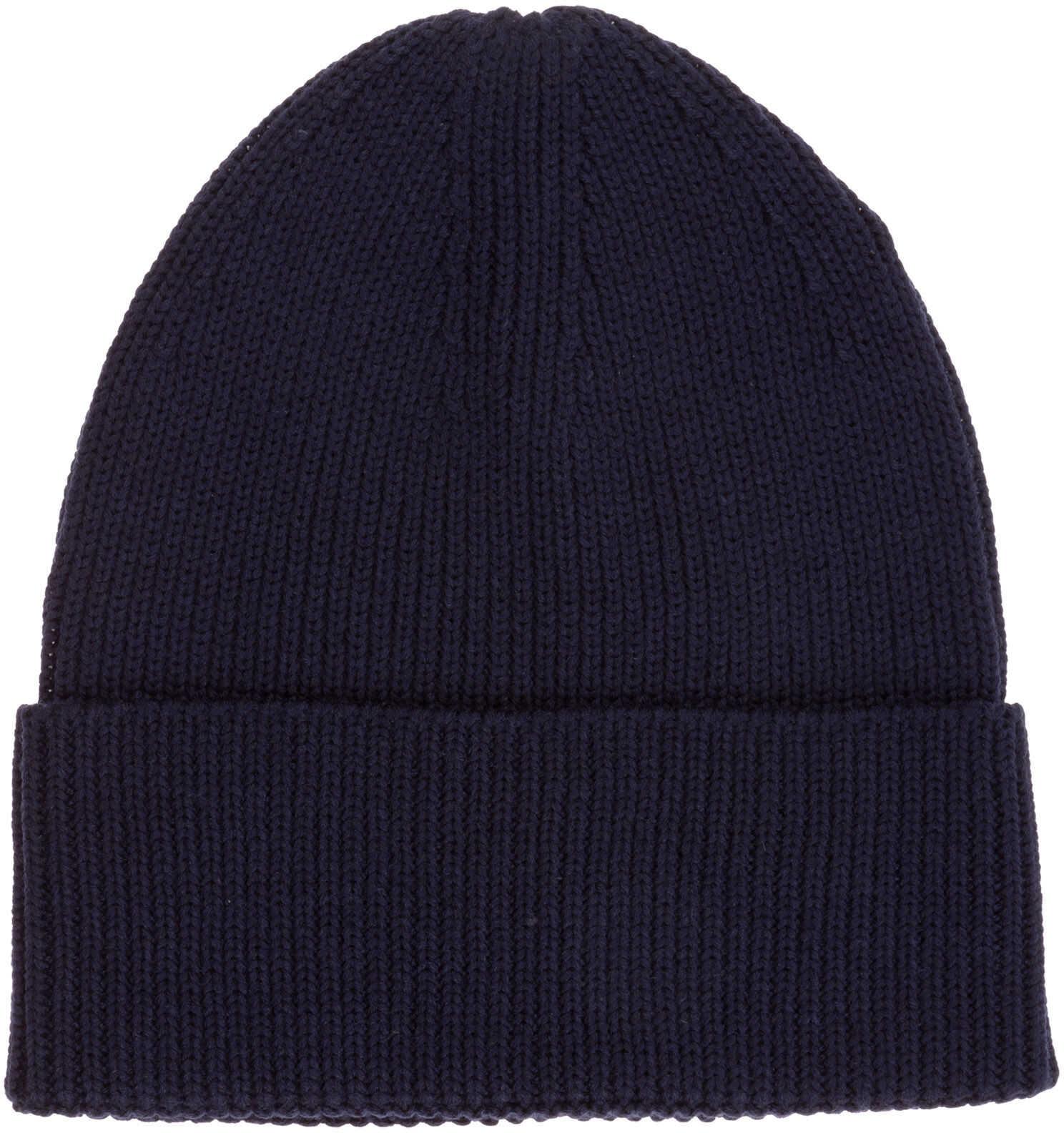Y-3 Beanie Hat Blue