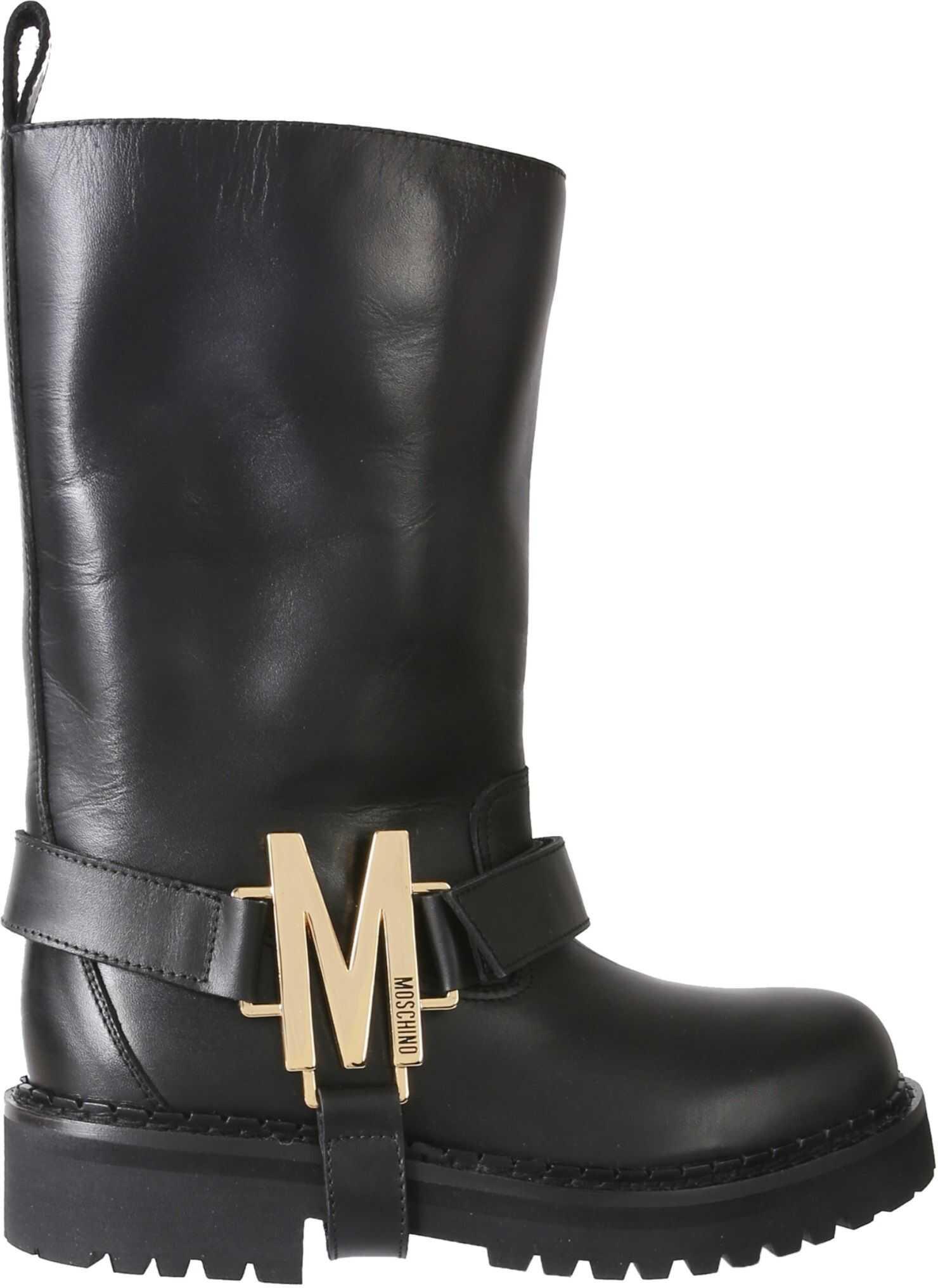 Moschino Biker Boots MA24105G0BMF0_000 BLACK imagine b-mall.ro