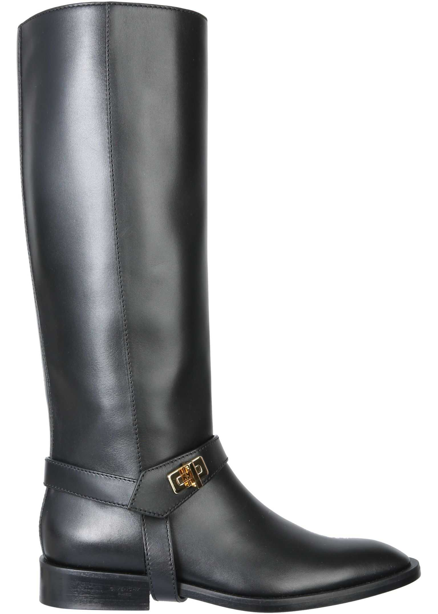 """Givenchy """"Eden"""" Boots BE701CE0LF_001 BLACK imagine b-mall.ro"""