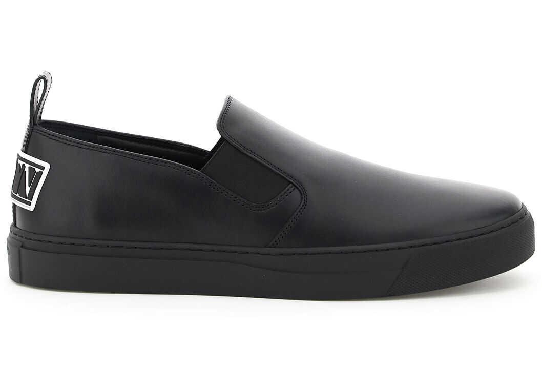 Valentino Garavani Leather Sneakers Vltn Briefs On UY0S0D92WMX NERO imagine b-mall.ro