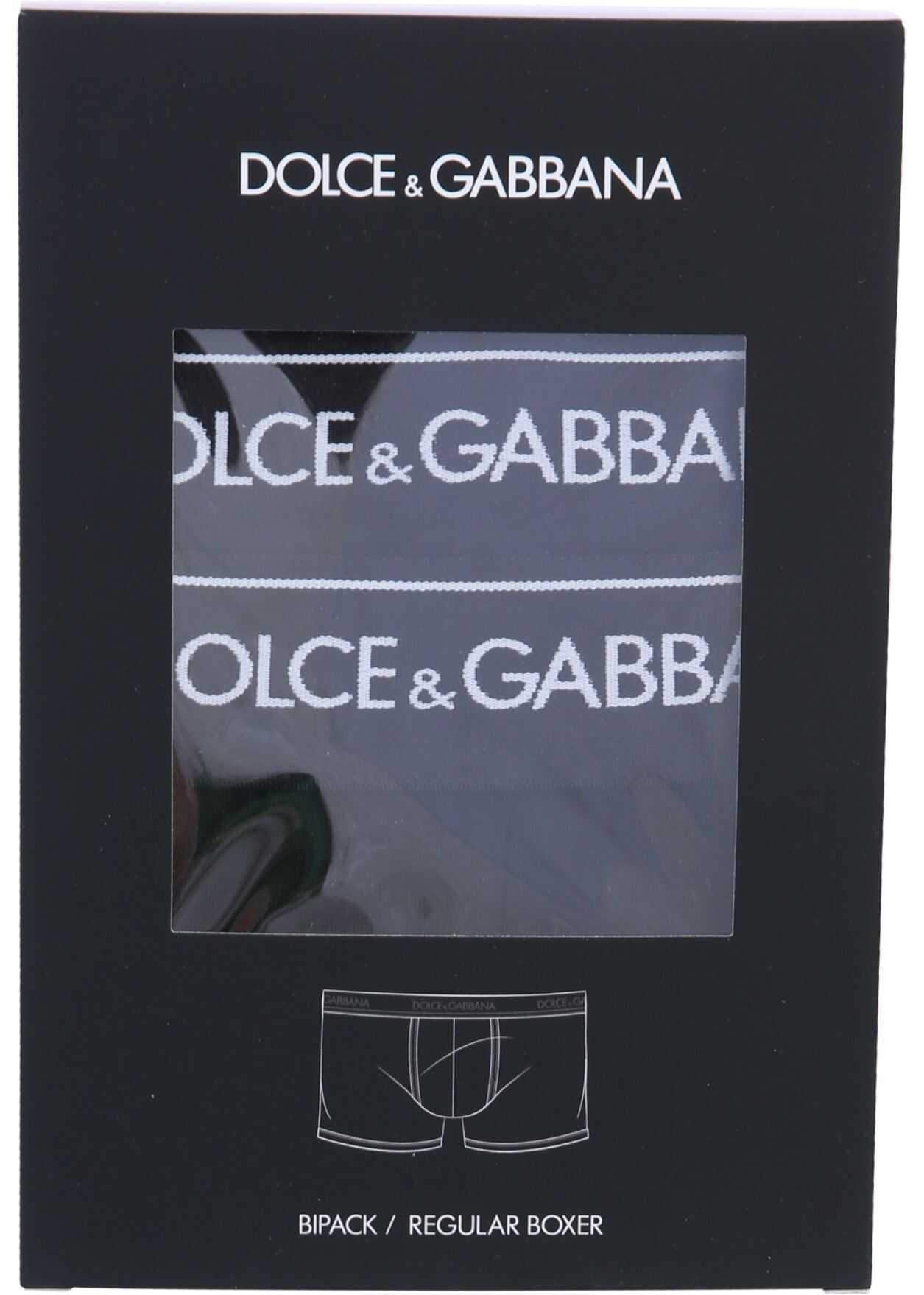 Dolce & Gabbana Pack Of Two Boxers* BLACK