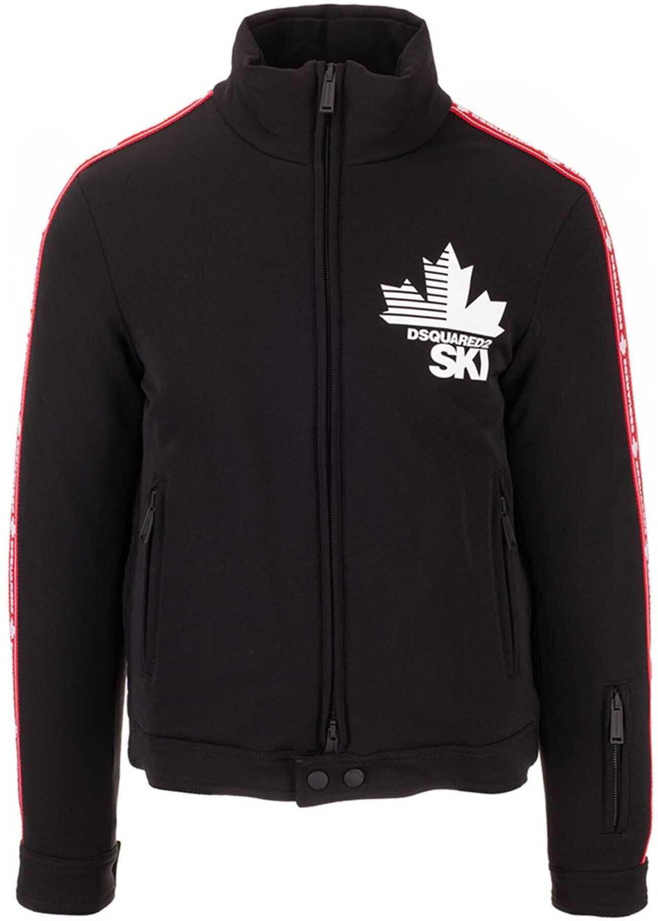 DSQUARED2 Padded Ski Jacket In Black Black imagine