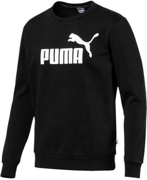 PUMA Ess Logo Crew Sweat Black imagine