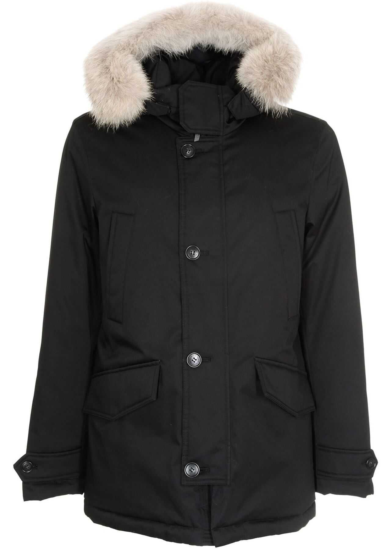 Woolrich Laminated Parka Hc In Black Black imagine