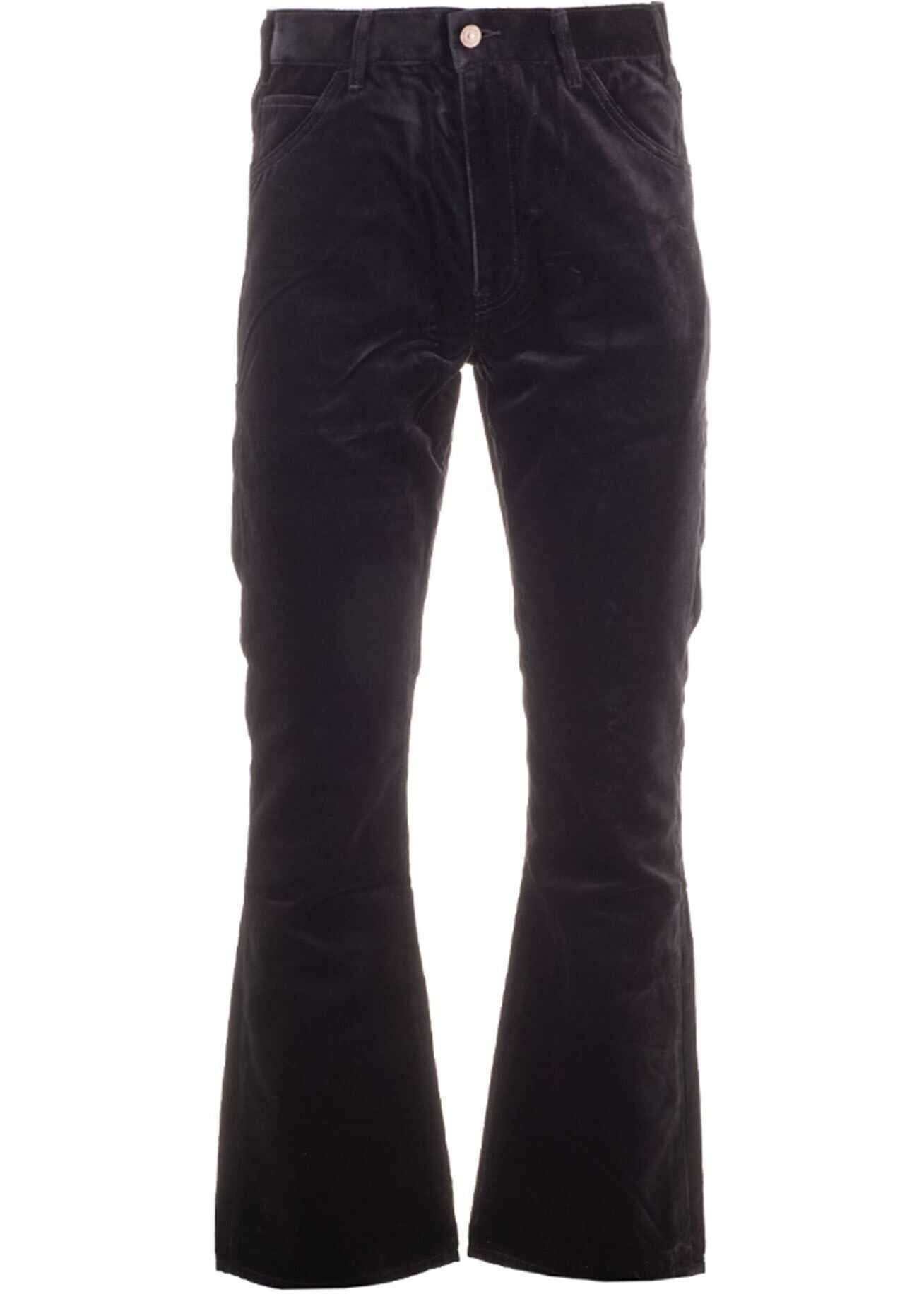 Céline Flared Jeans In Black Black imagine