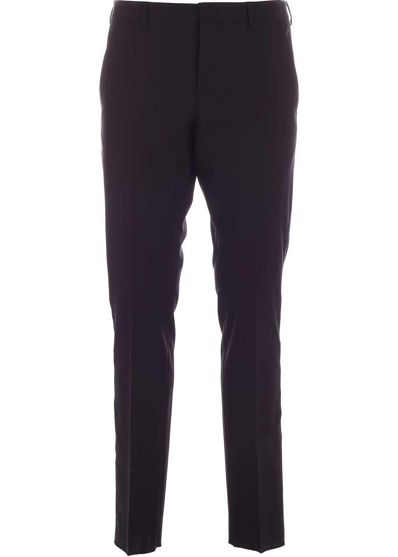 Valentino Garavani Blue Band Pants In Black Black imagine