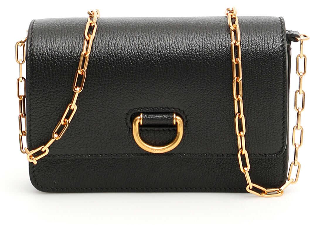 Burberry Hayes D-Ring Mini Bag 8004569 BLACK imagine b-mall.ro