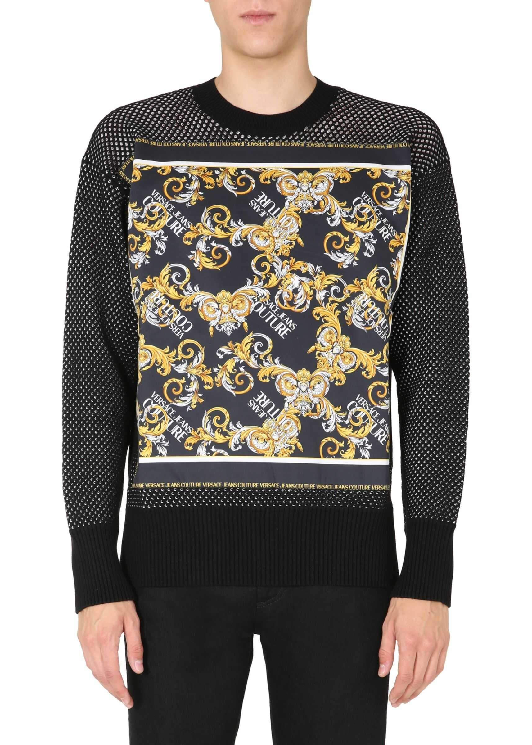 Versace Jeans Couture Crew Neck Sweater BLACK imagine