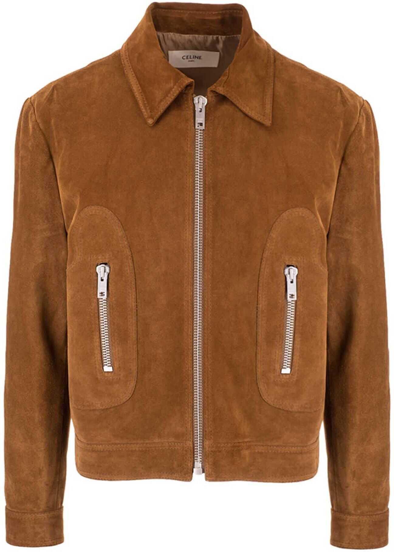 Céline 70S Straight Jacket In Brown Brown imagine