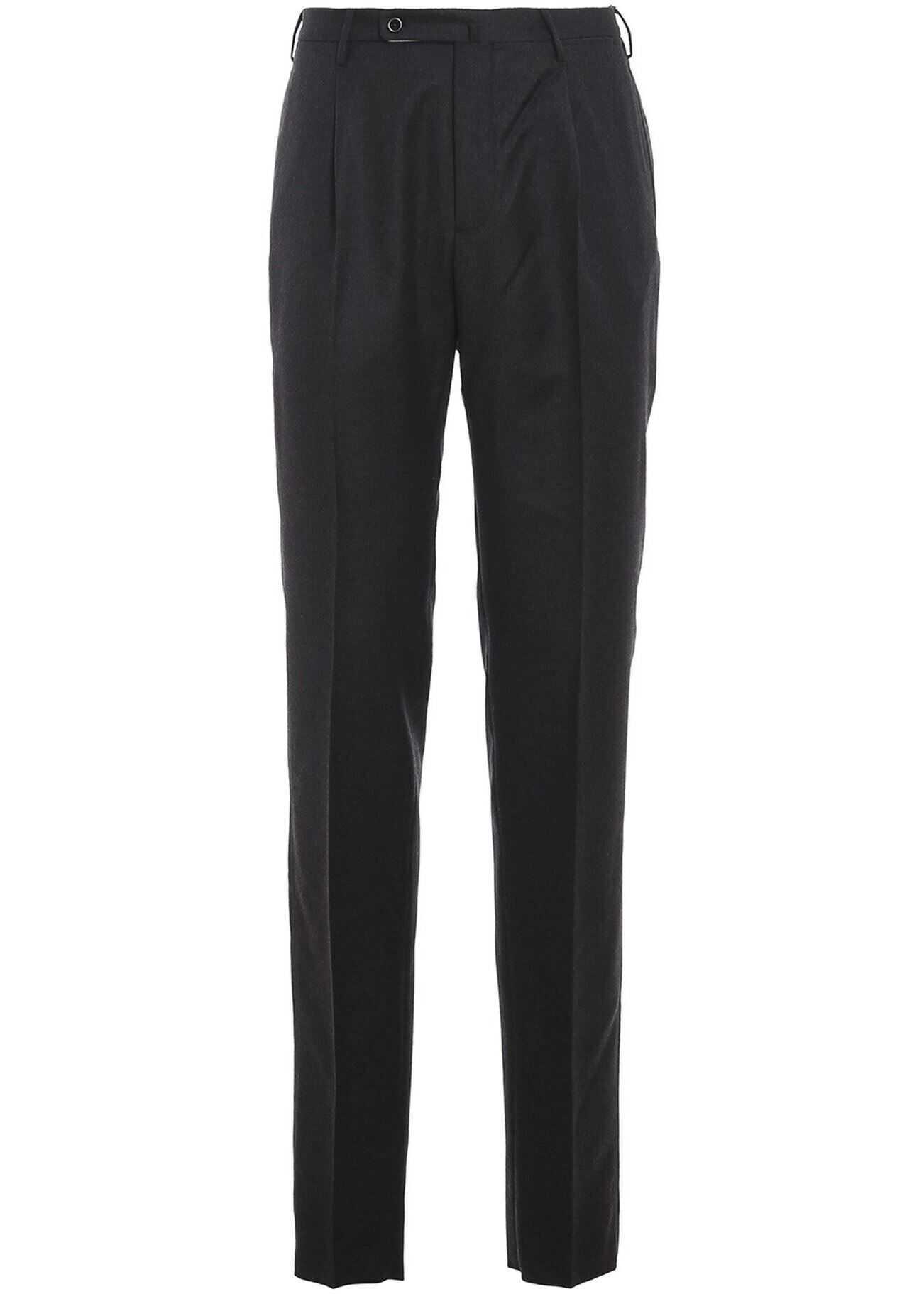 Incotex Super 100'S Trousers In Grey Grey imagine