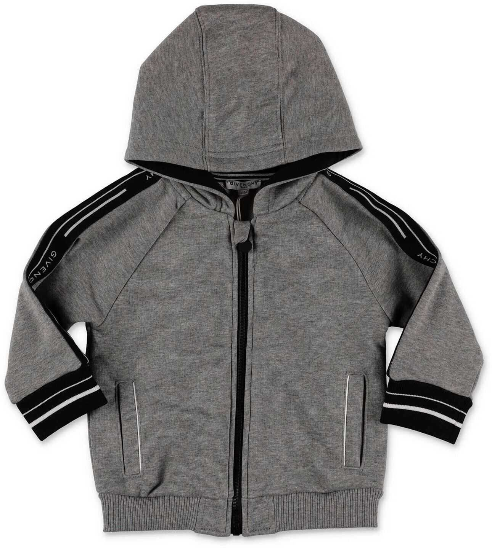Givenchy Melange Gray Zip Sweatshirt Grey