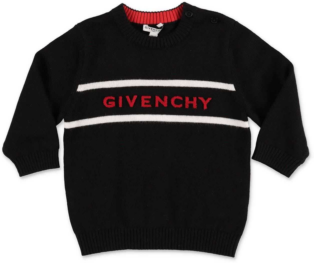 Givenchy Black Sweater With Inlay Black