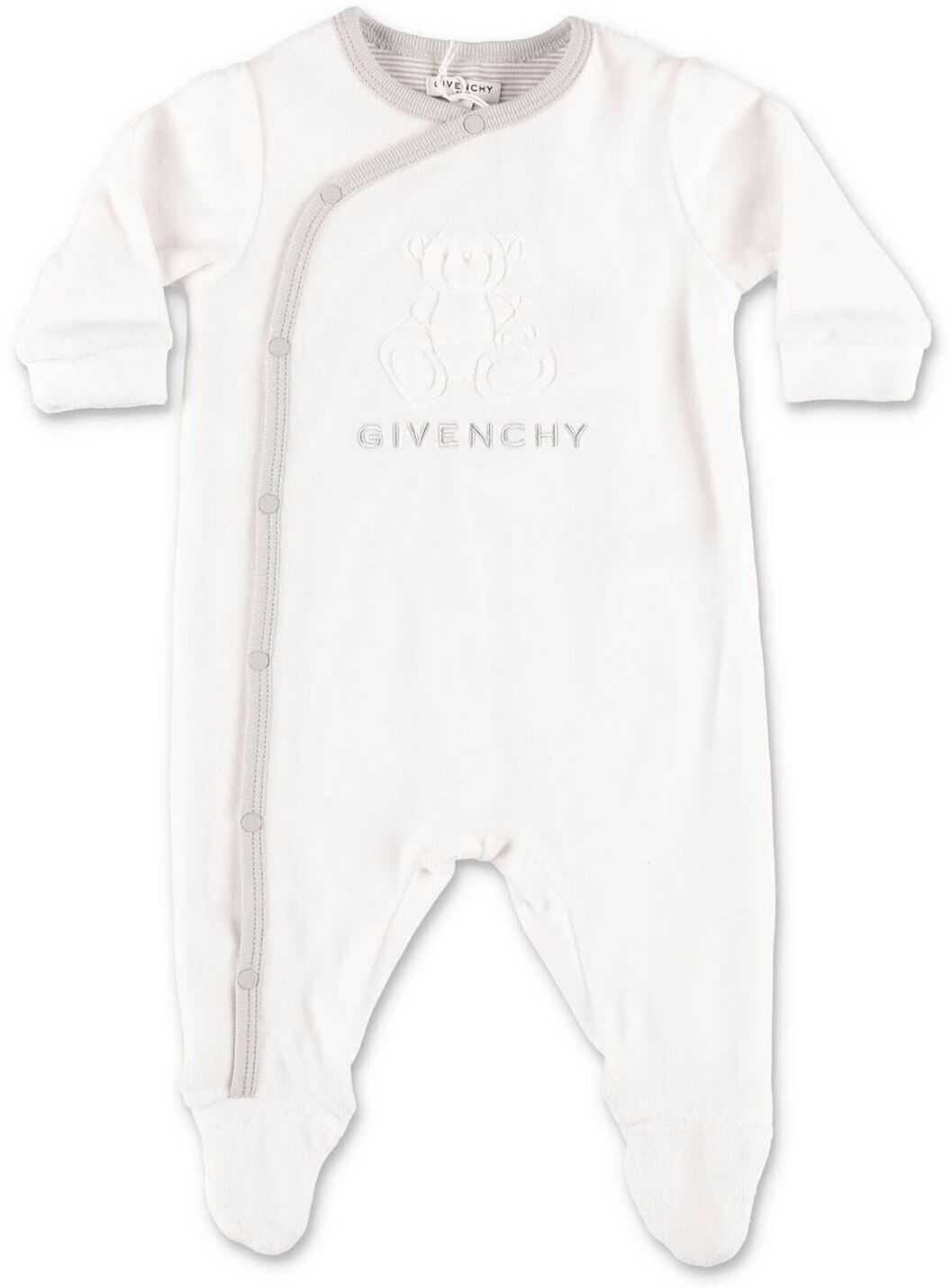 Givenchy Romper And Handkerchief Set White