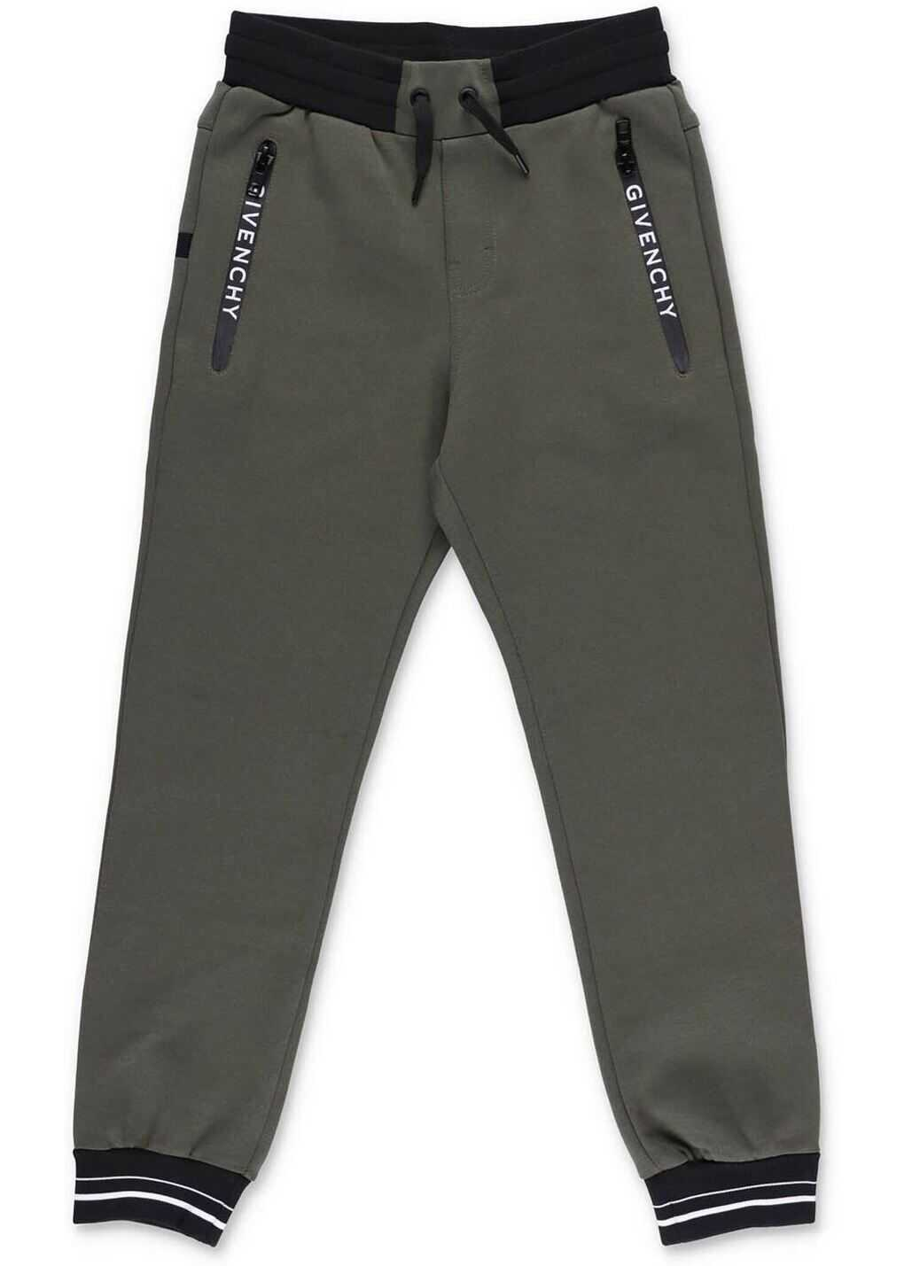 Givenchy Heat-Sealed Zips Pants In Green Green