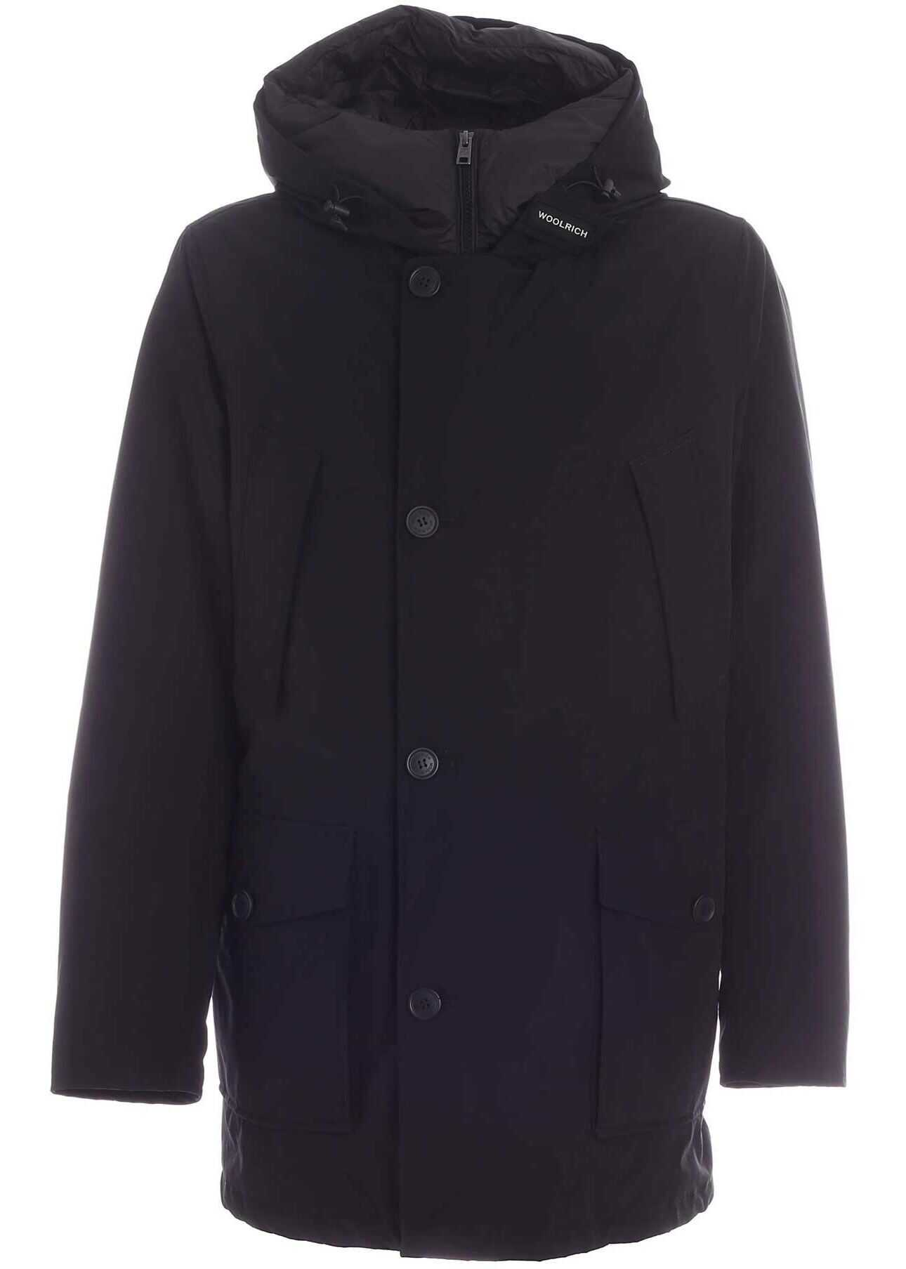 Woolrich Eco Parka Down Jacket In Black Black imagine