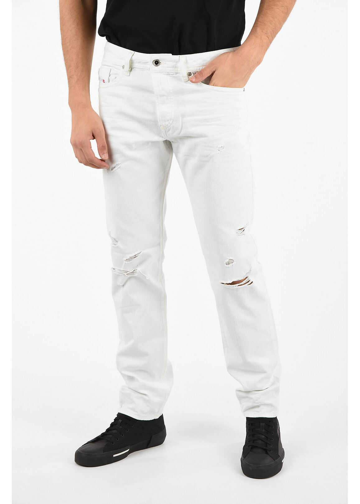 Diesel 19cm Slim Fit BUSTER Jeans L32 WHITE imagine