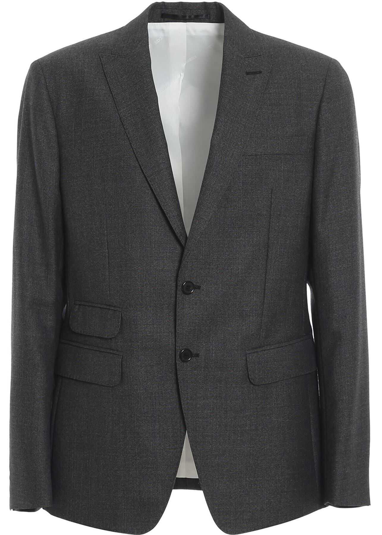 Two-Piece Virgin Wool Suit In Grey