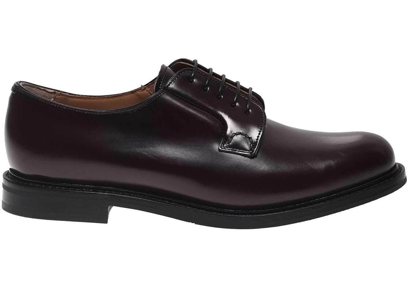 Church's Shannon 2 Wr Derby Shoes In Burgundy DE0009 9XV F0ADY Red imagine b-mall.ro