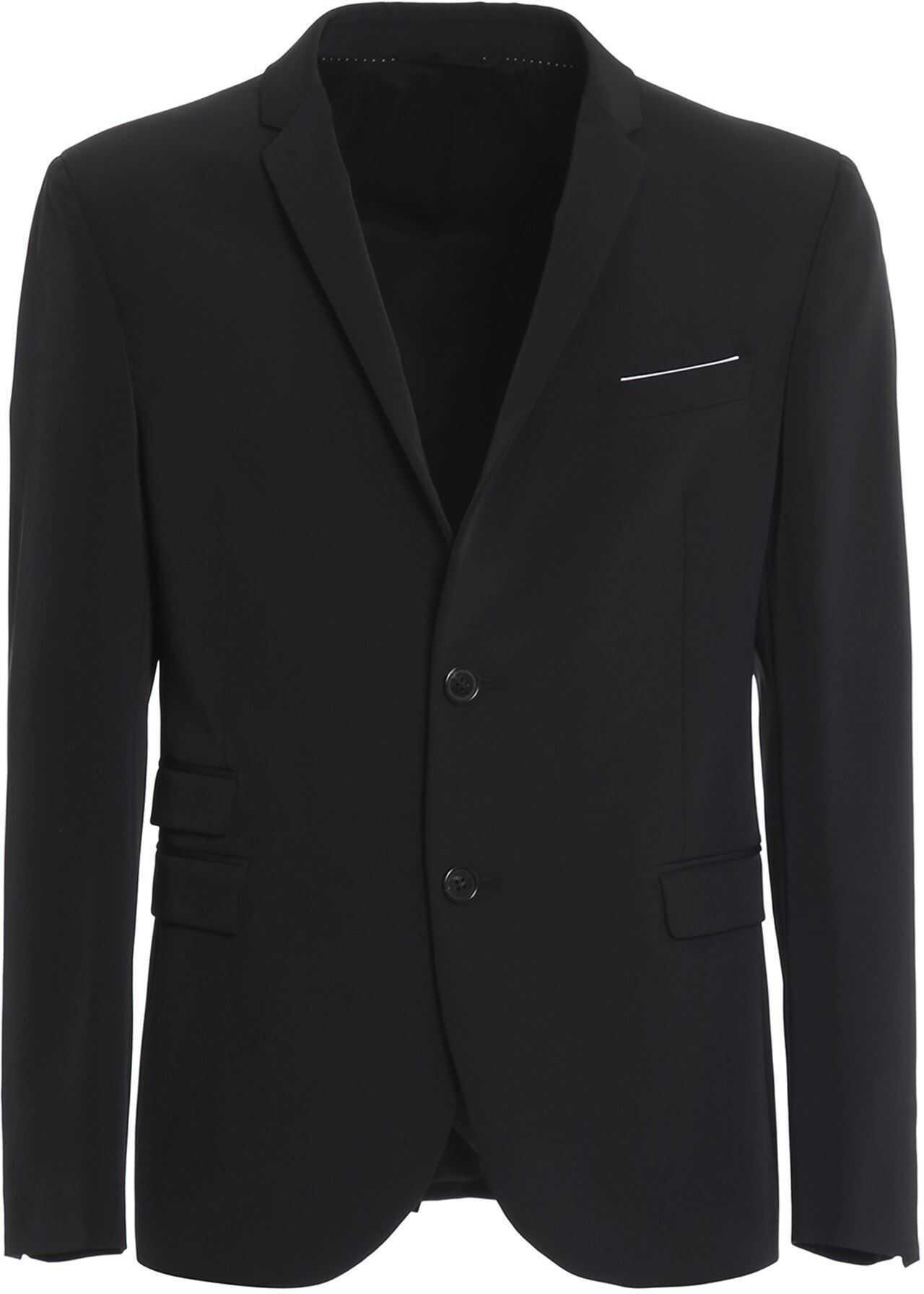 Neil Barrett Stretch Cady Suit In Black Black imagine