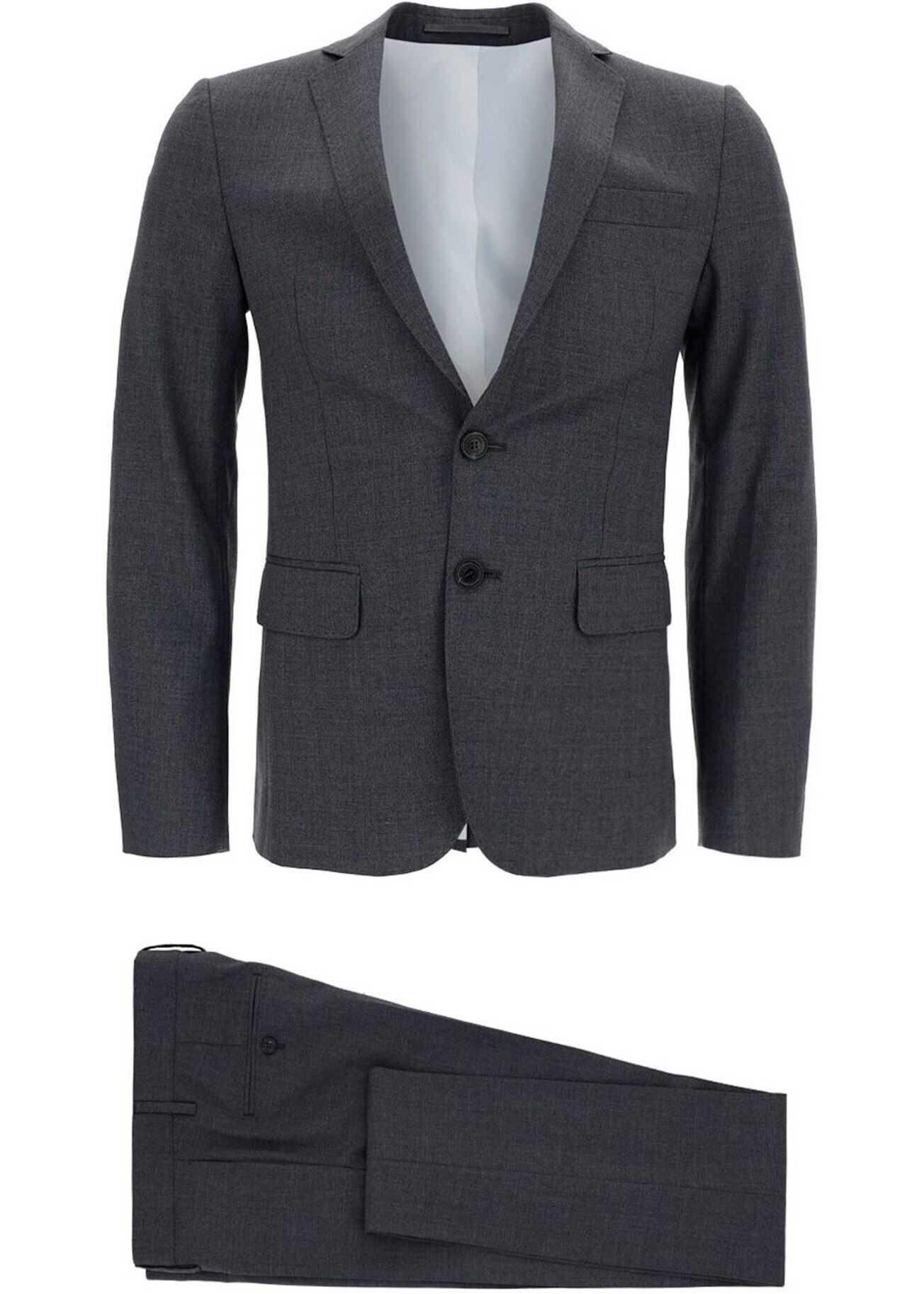 Wool Suit In Grey