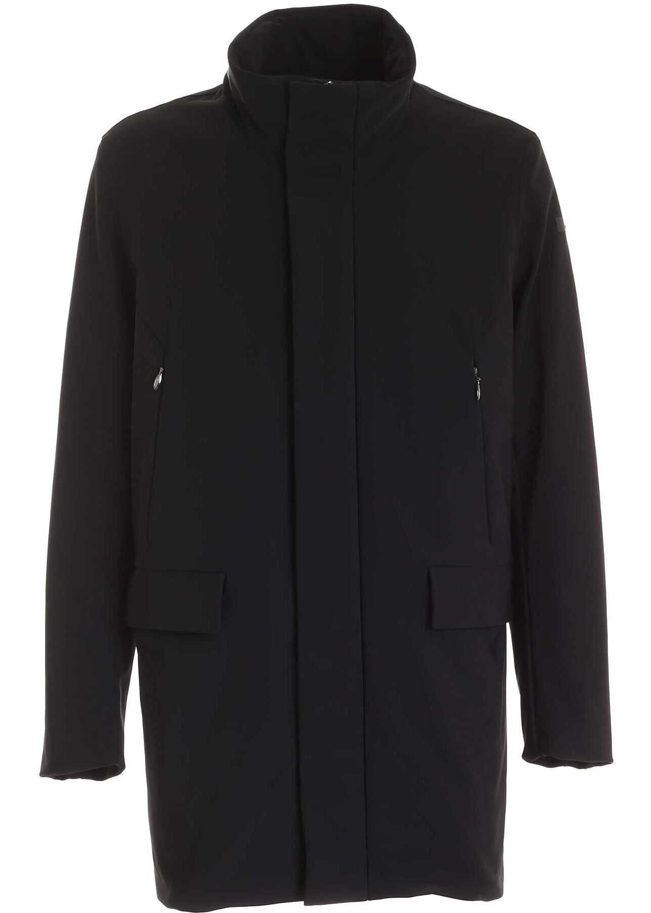 RRD Roberto Ricci Designs Winter Rain Coat In Black Black imagine