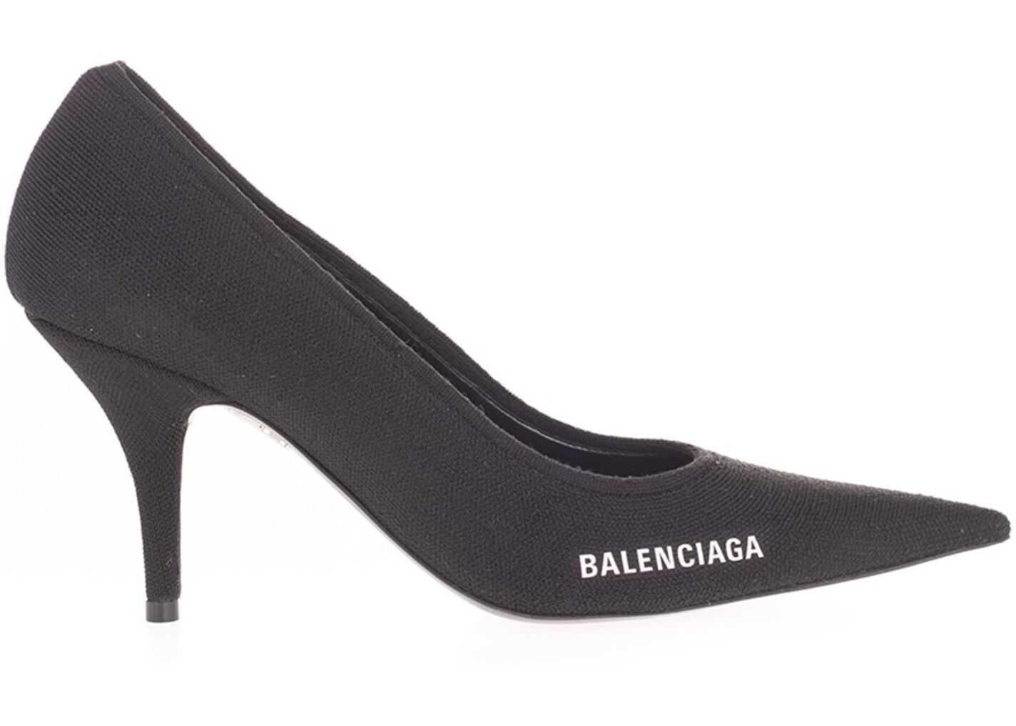 Balenciaga Knife Knit Pumps In Black 628602 W1802 1090 Black imagine b-mall.ro