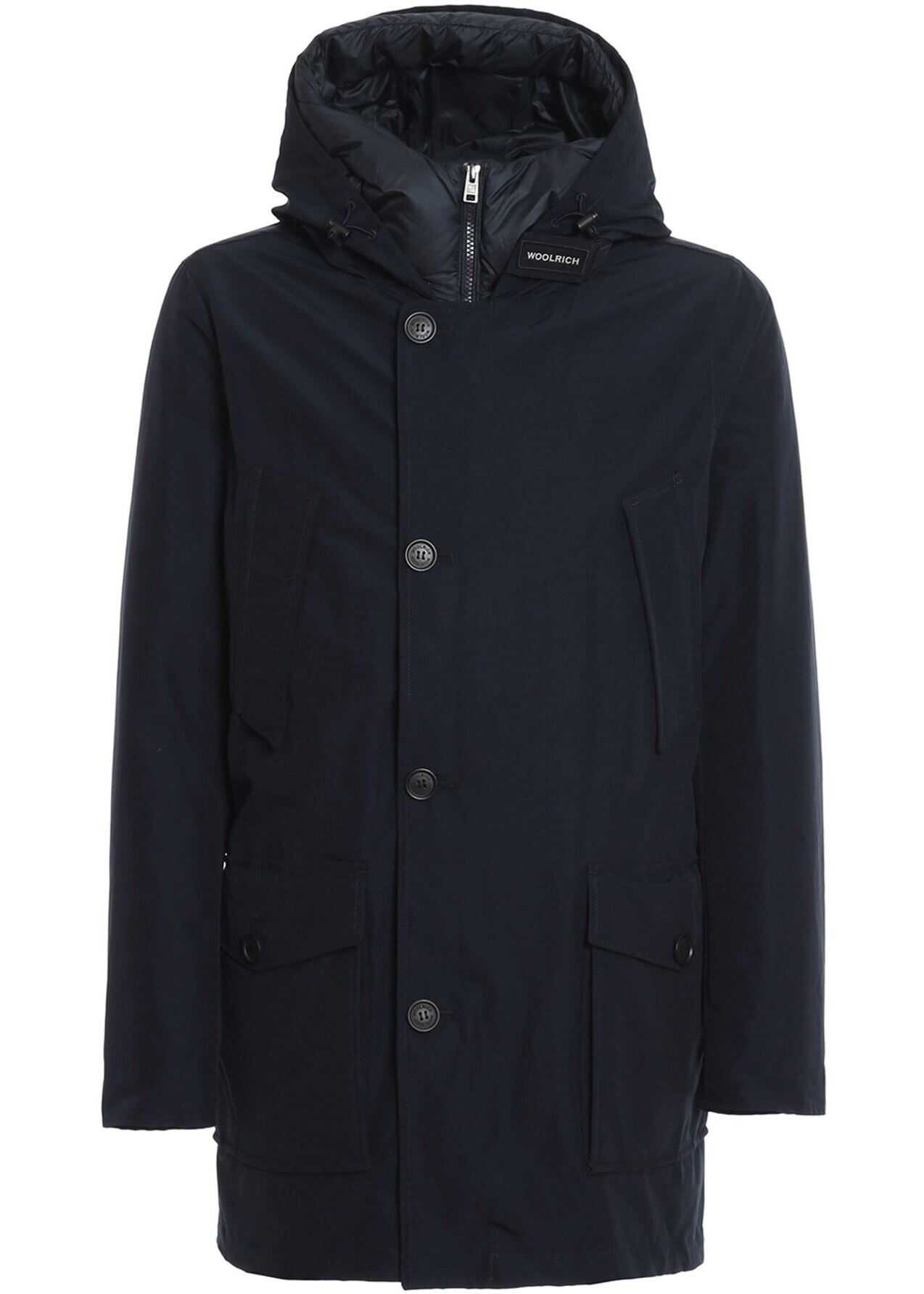 Woolrich Eco Parka 3 In 1 Coat In Blue Blue imagine