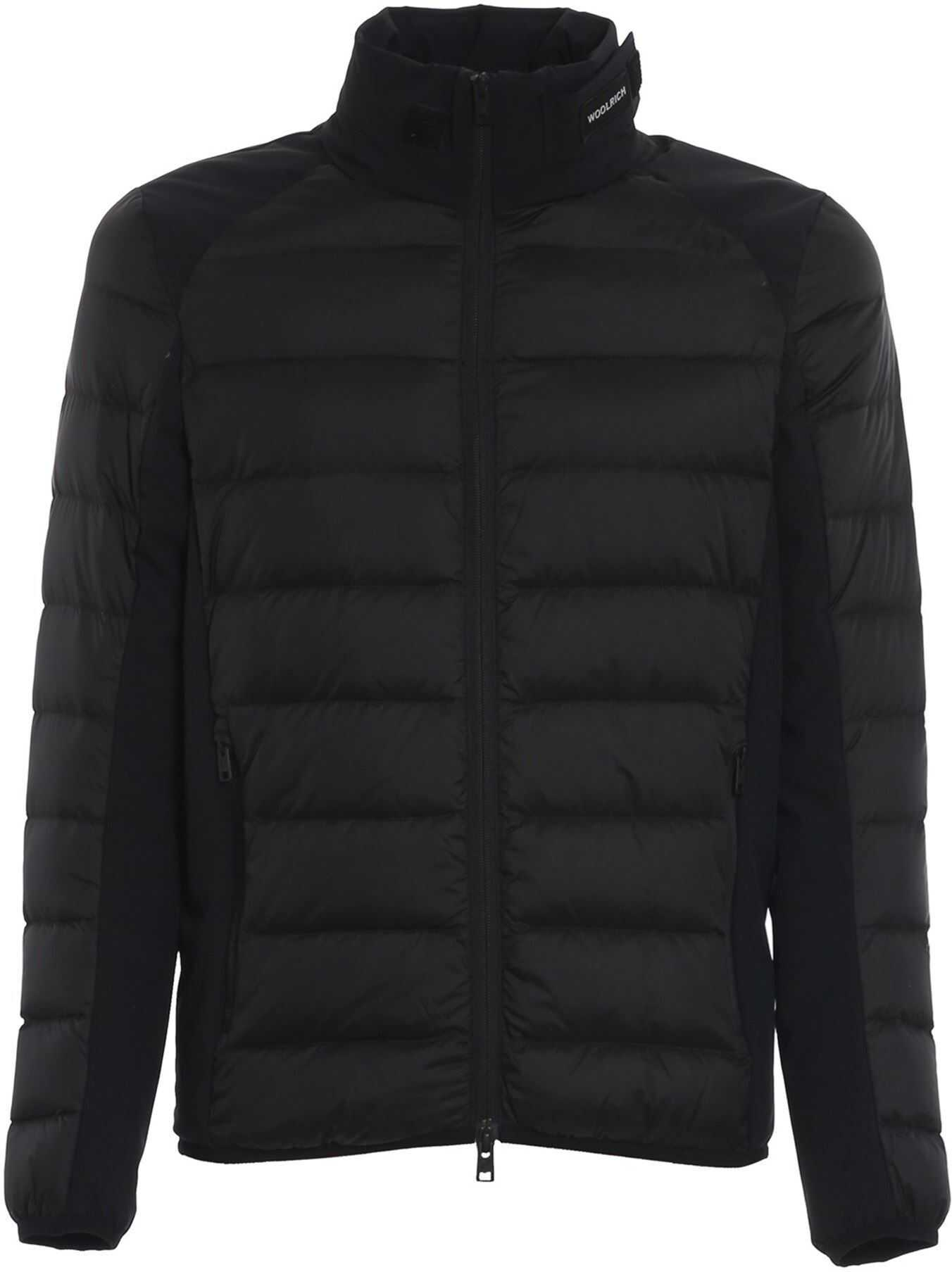 Woolrich Light Weight Padded Jacket In Black Black imagine