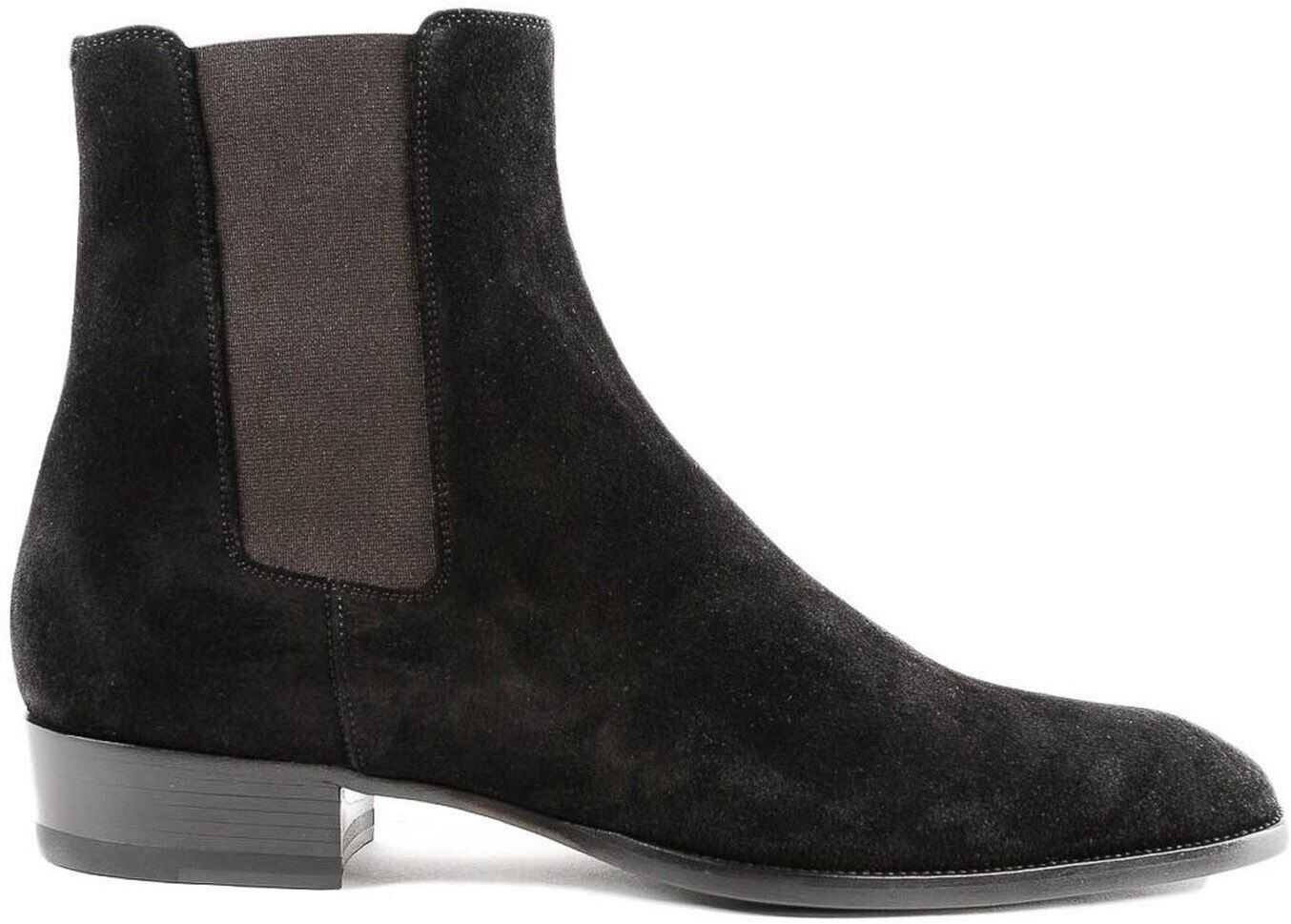 Wyatt 30 Suede Ankle Boots In Black