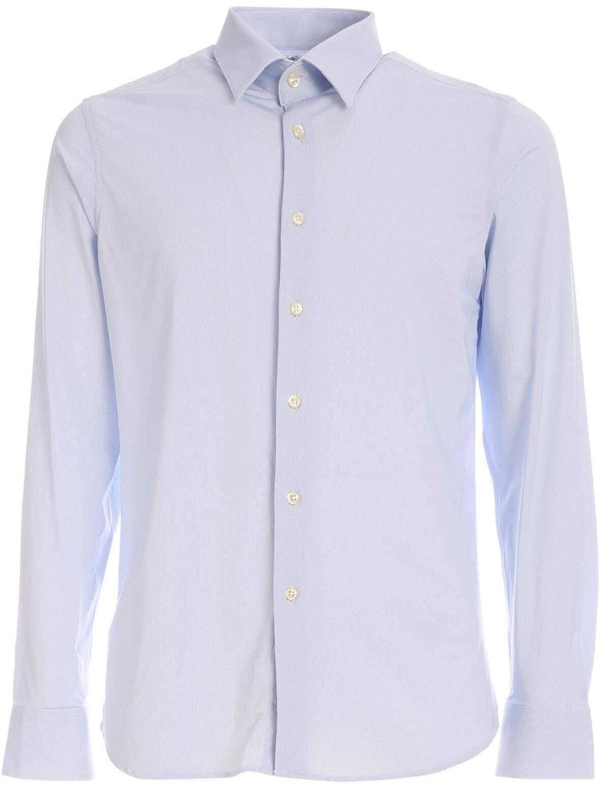 RRD Roberto Ricci Designs Micro Pattern Shirt In Light Blue Light Blue imagine