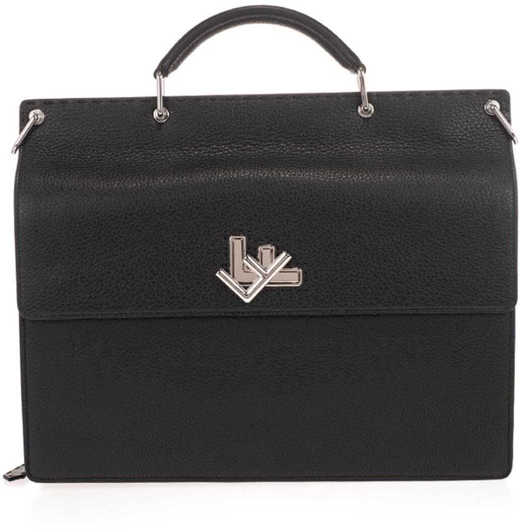 Fendi Business Ff Bag In Black 7VA462 SFR F0GXN Black imagine b-mall.ro