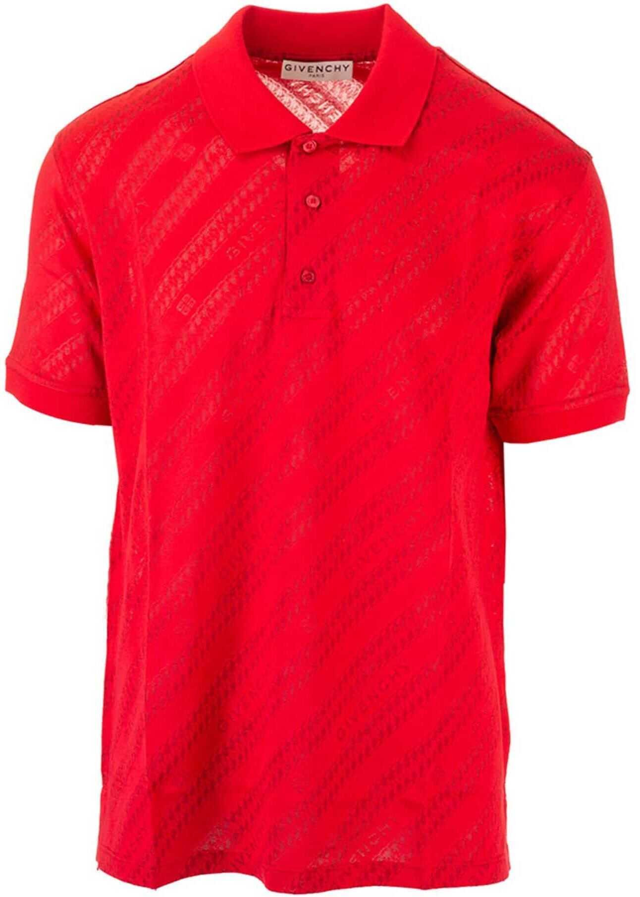 Givenchy Branded Polo Shirt In Red Red imagine