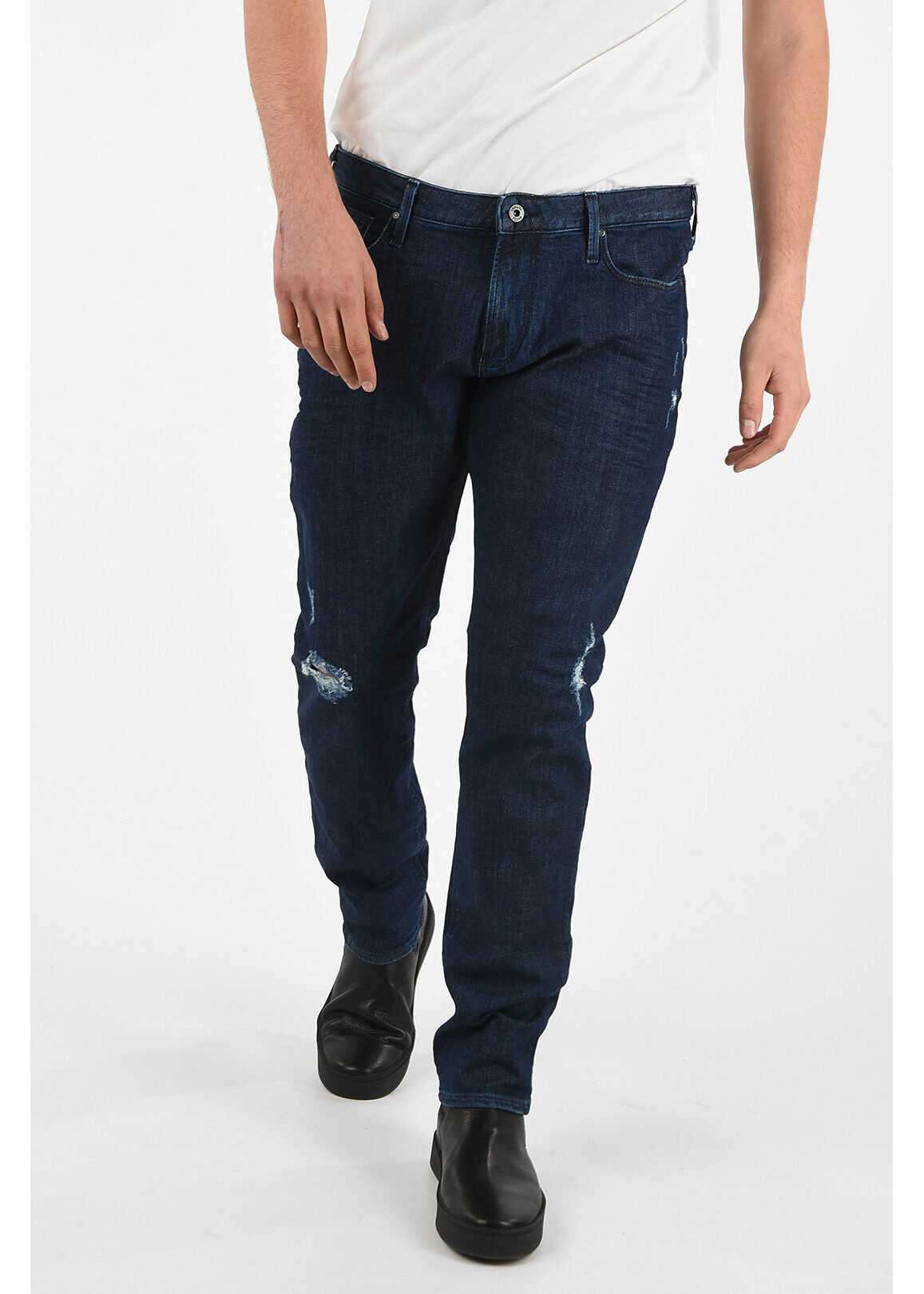 Armani ARMANI JEANS 18cm Slim Fit J06 Jeans L32 BLUE imagine