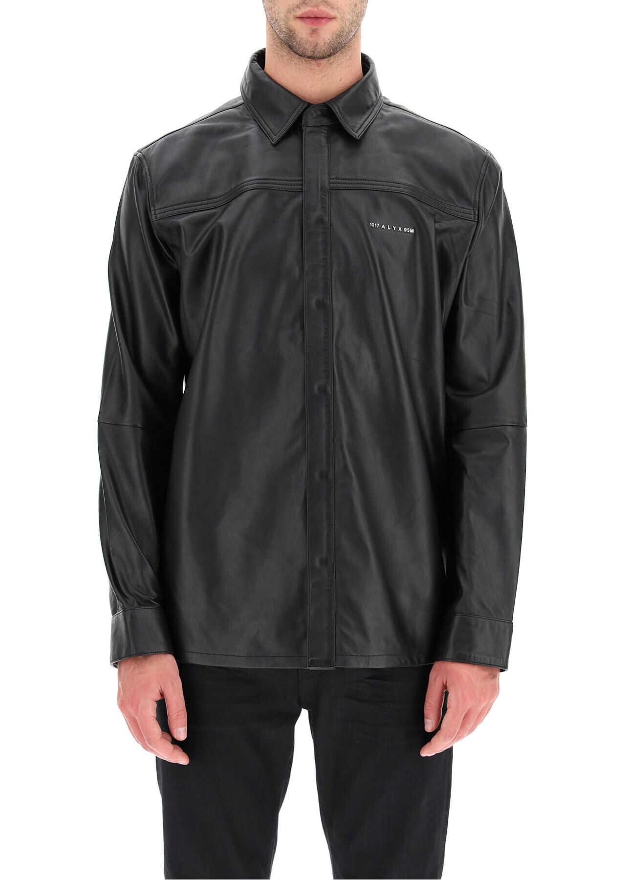 Alyx 1017 9Sm Drake Leather Shirt BLACK imagine