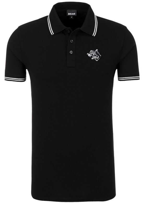 Just Cavalli Polo T-Shirt S01GC0378 Black imagine