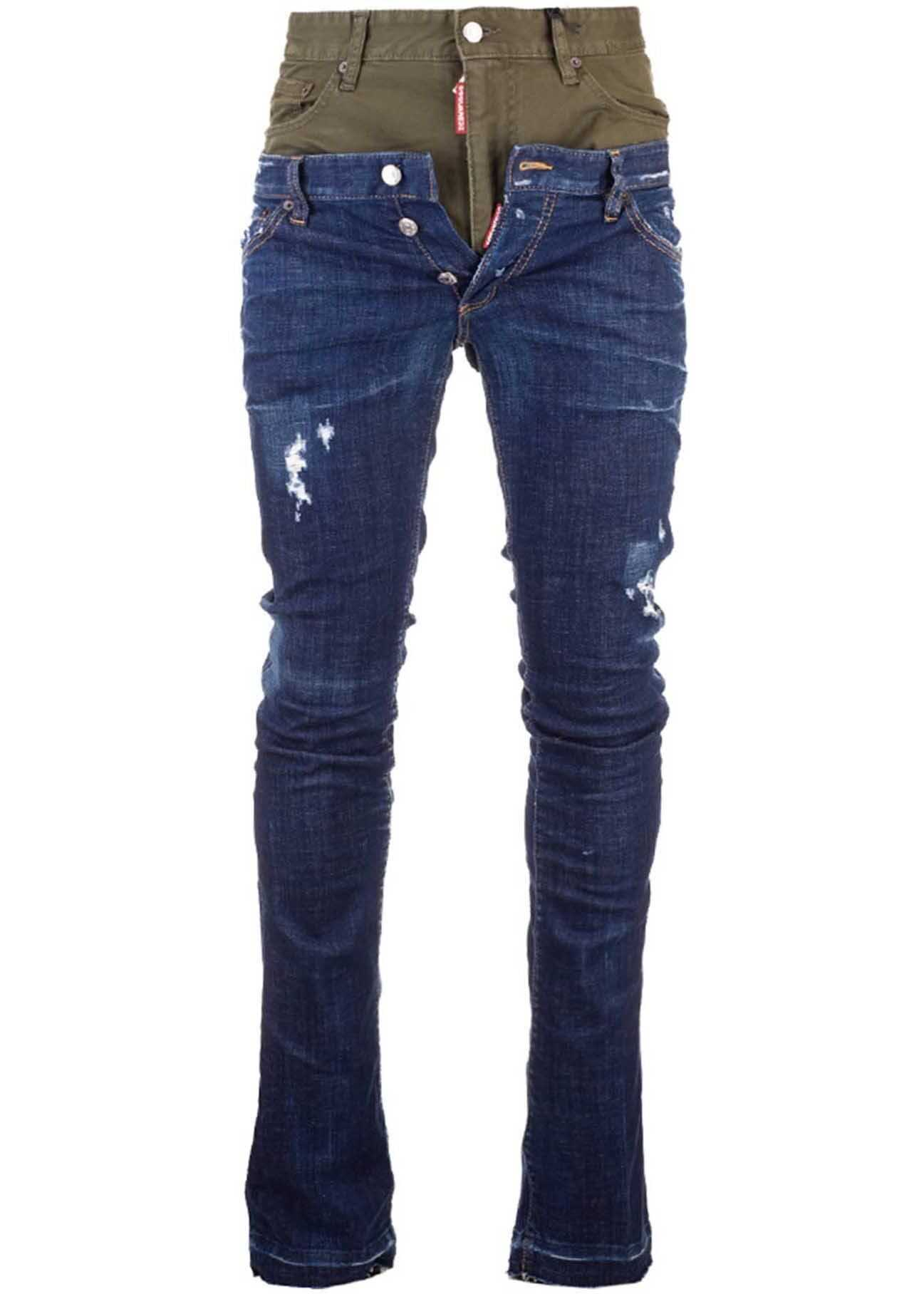 DSQUARED2 Sharpei Jeans Perfecto Wash Twin Pack In Blue Blue imagine