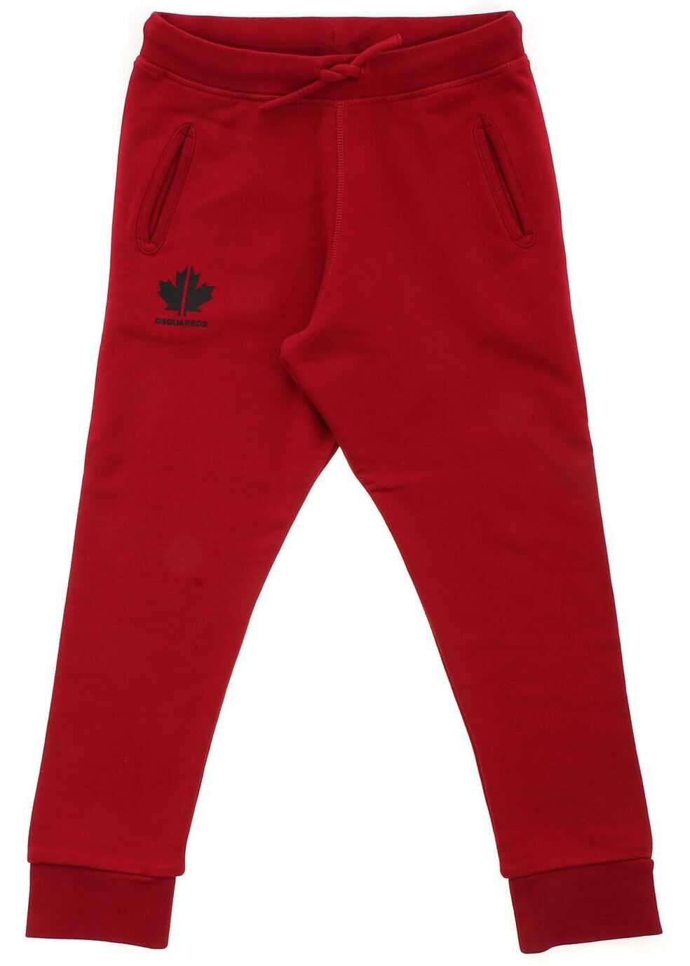DSQUARED2 Logo Tracksuit Pants In Red Red