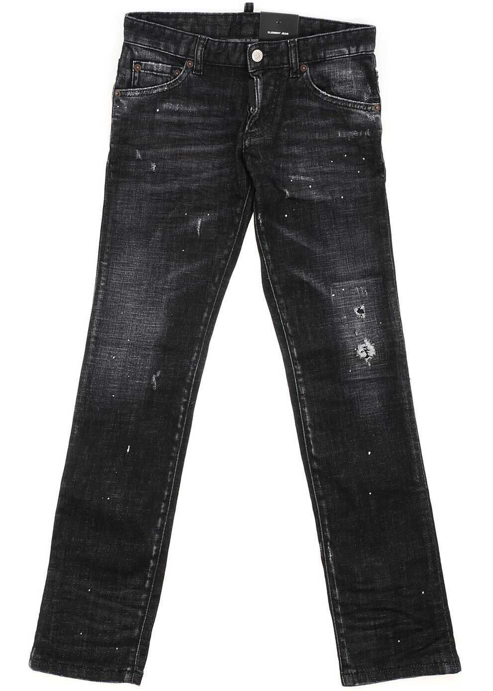 DSQUARED2 Destroyed Effect Clement Jeans In Black Black
