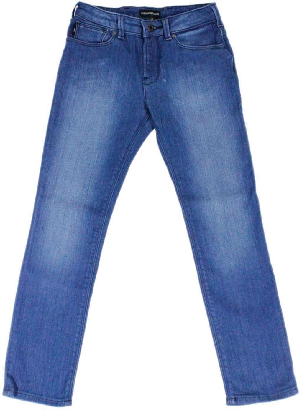 Emporio Armani Faded Jeans In Blue Blue