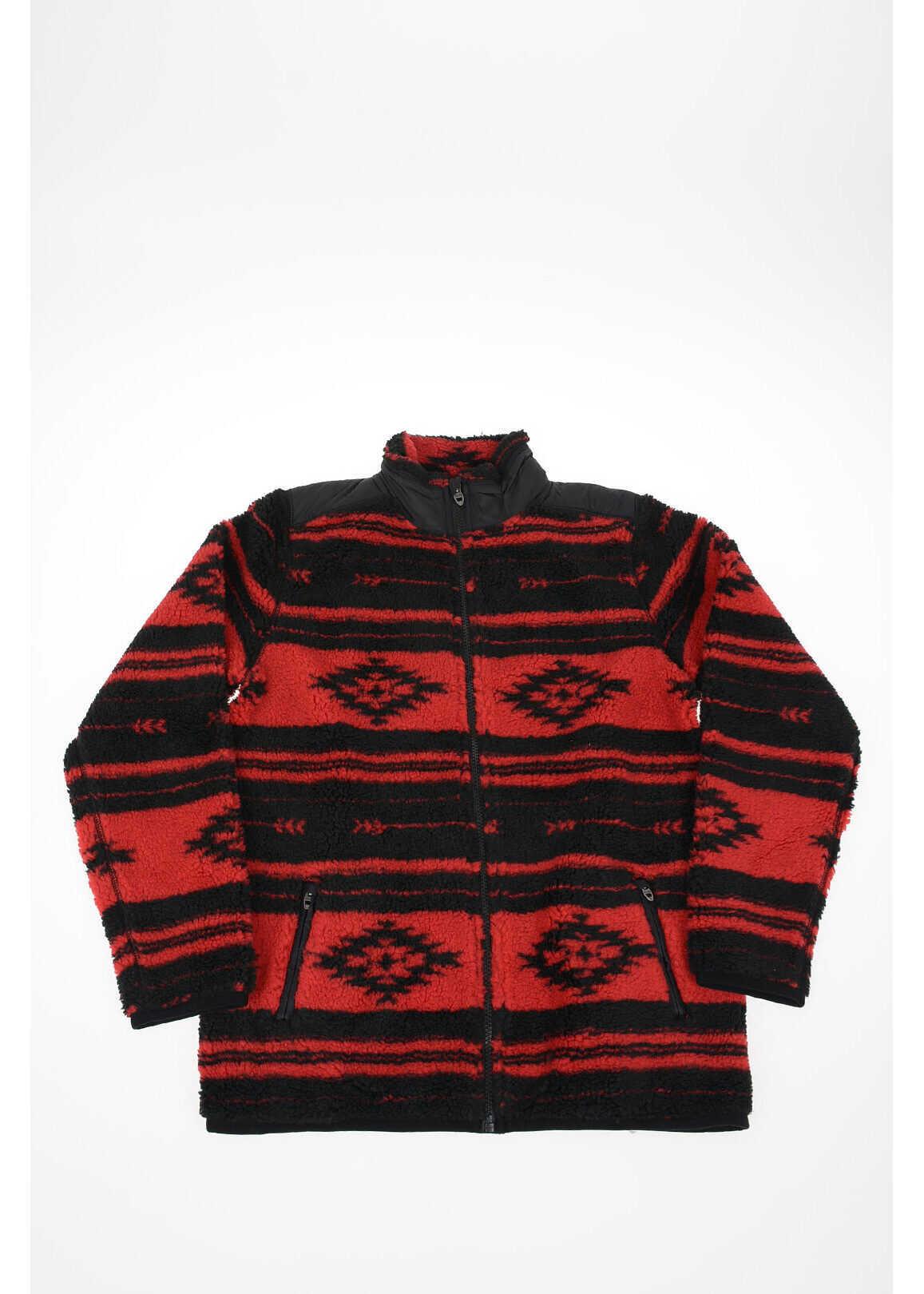 Polo Ralph Lauren Kids Fux Fur Full Zip Sweatshirt RED