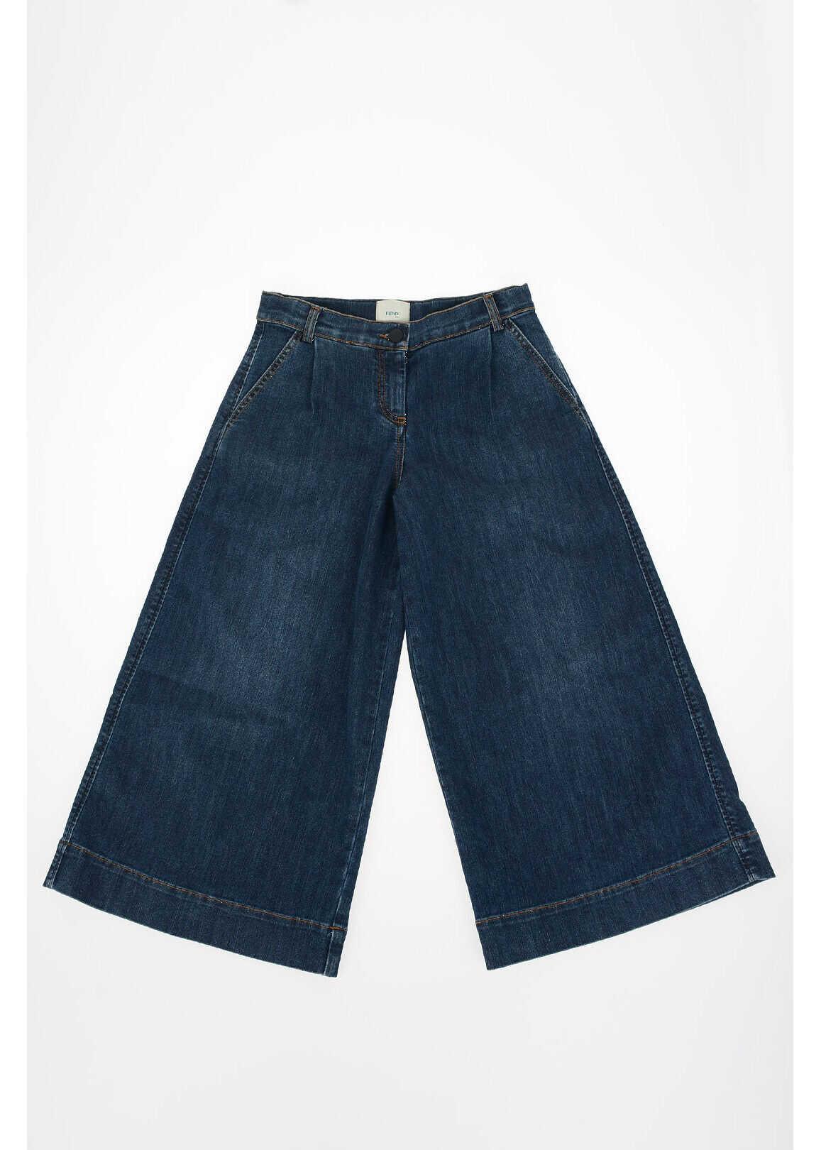 Fendi Kids bootcut jeans BLUE