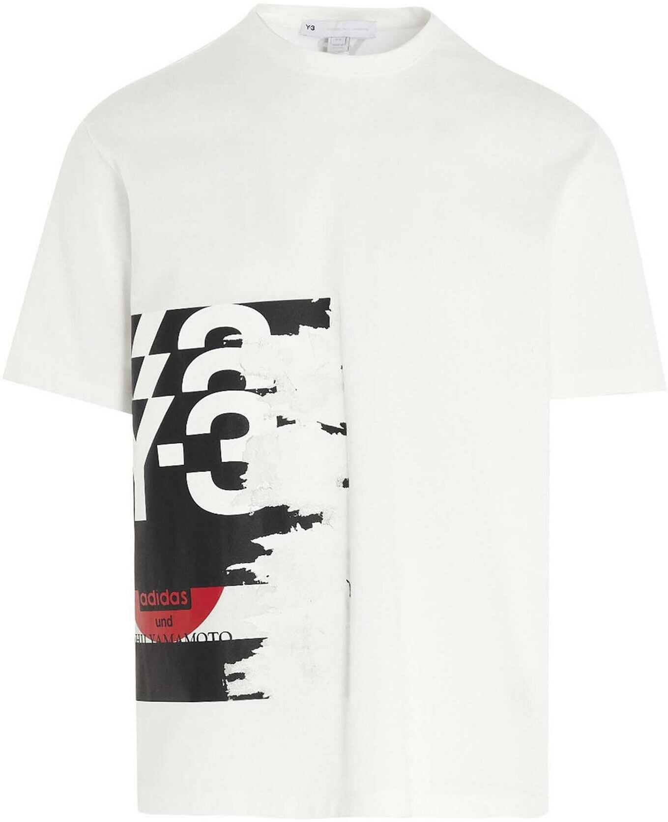 Y-3 Ch1 Graphic T-Shirt In White White