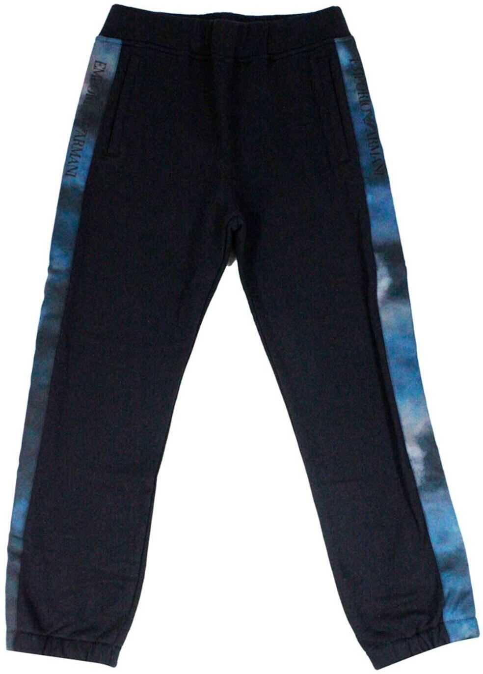 Emporio Armani Side Bands Pants In Blue Blue