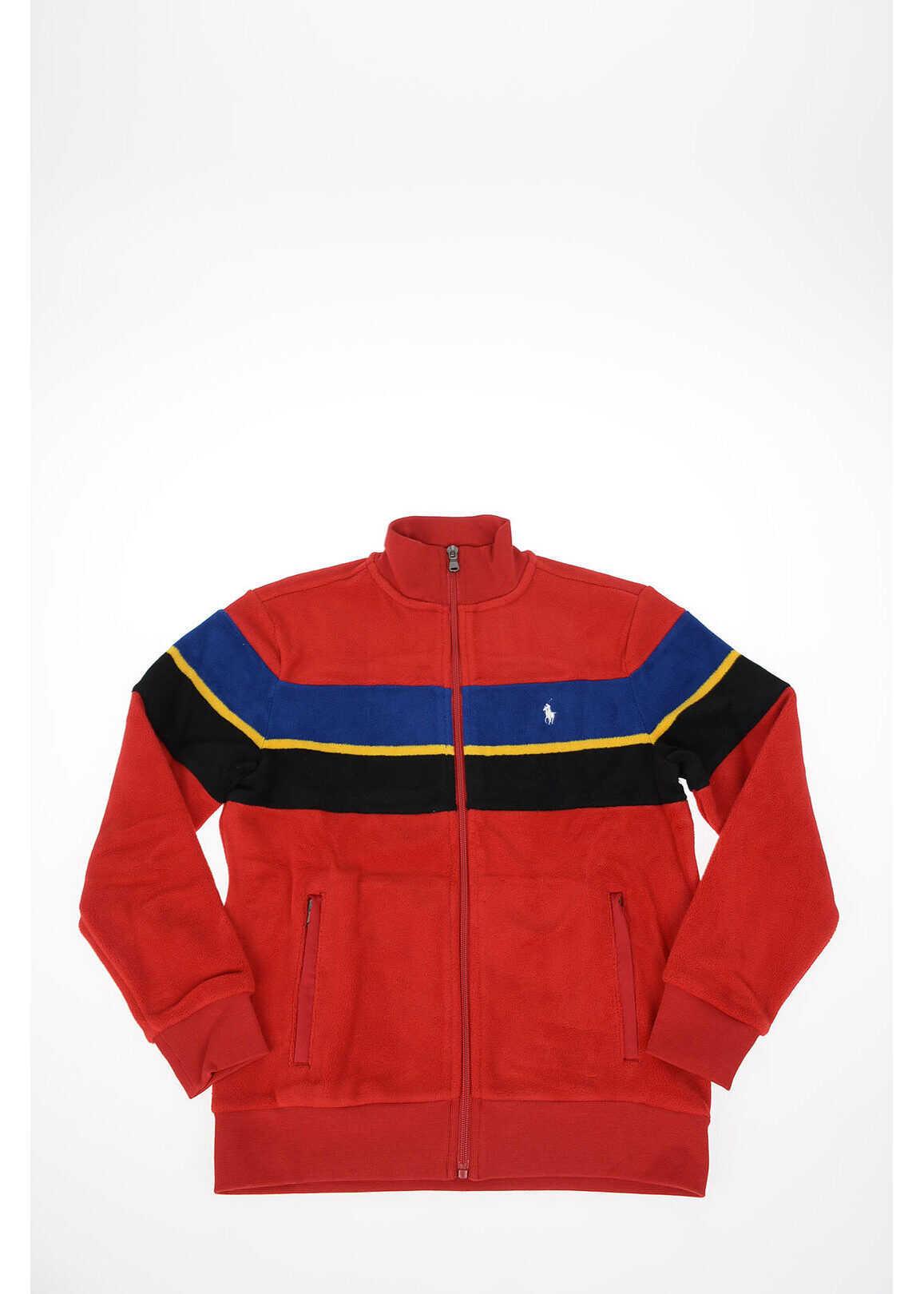 Polo Ralph Lauren Kids Pile Full zip HOLIDAY I Sweatshirt RED