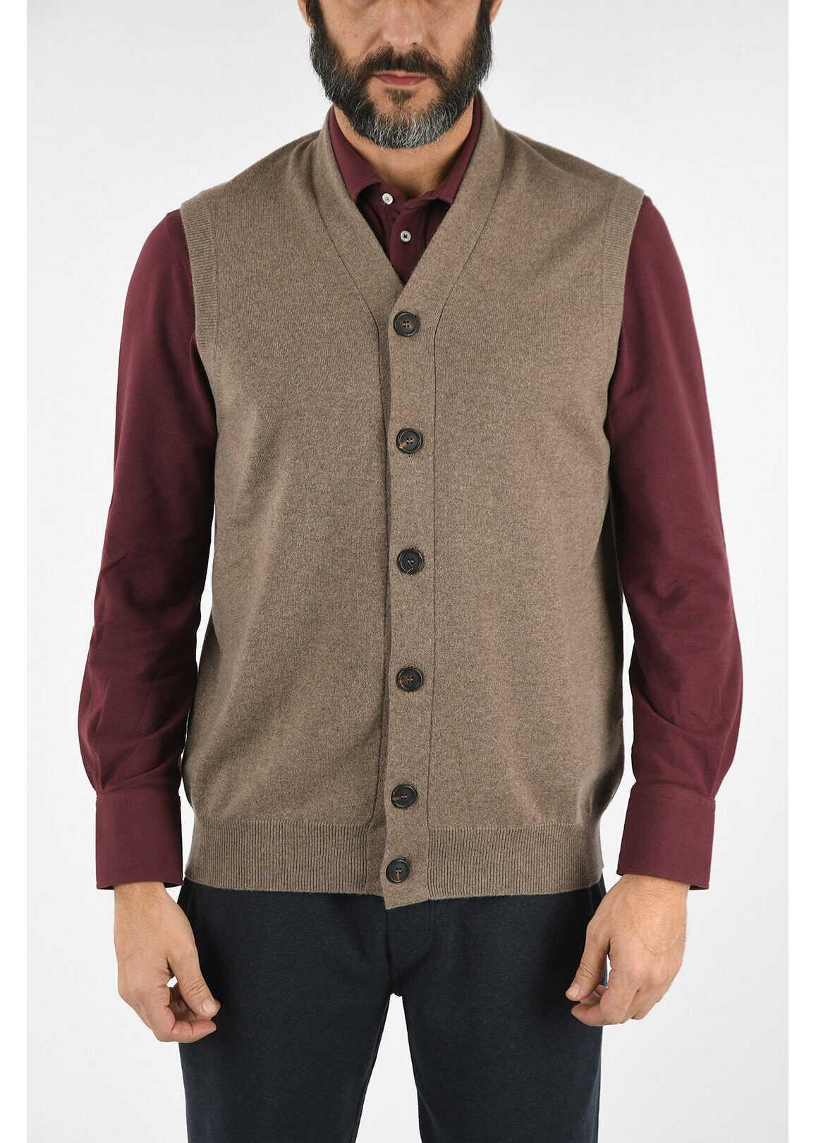 Brunello Cucinelli Cashmere Vest BEIGE imagine