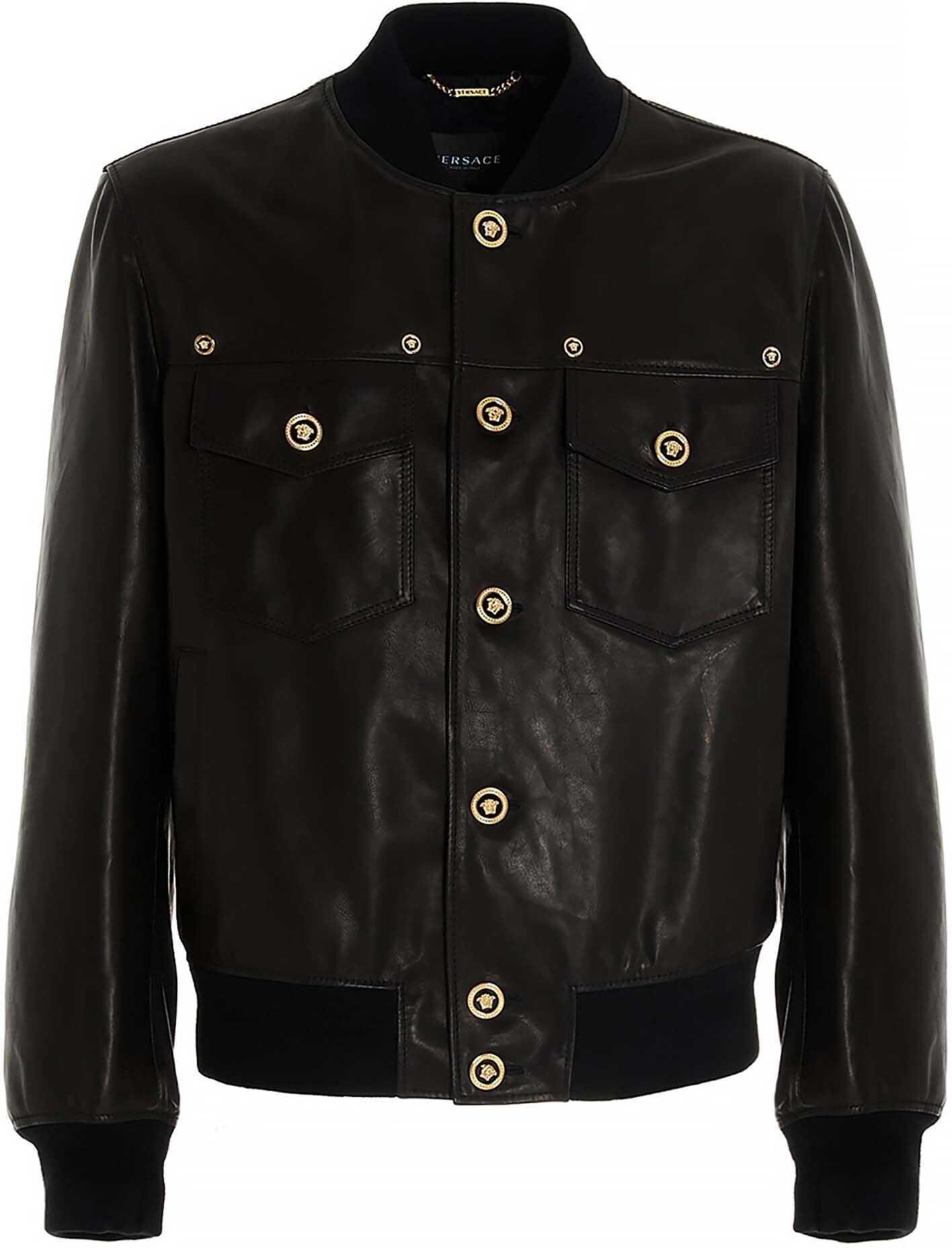 Versace Medusa Buttons Jacket In Black Black imagine