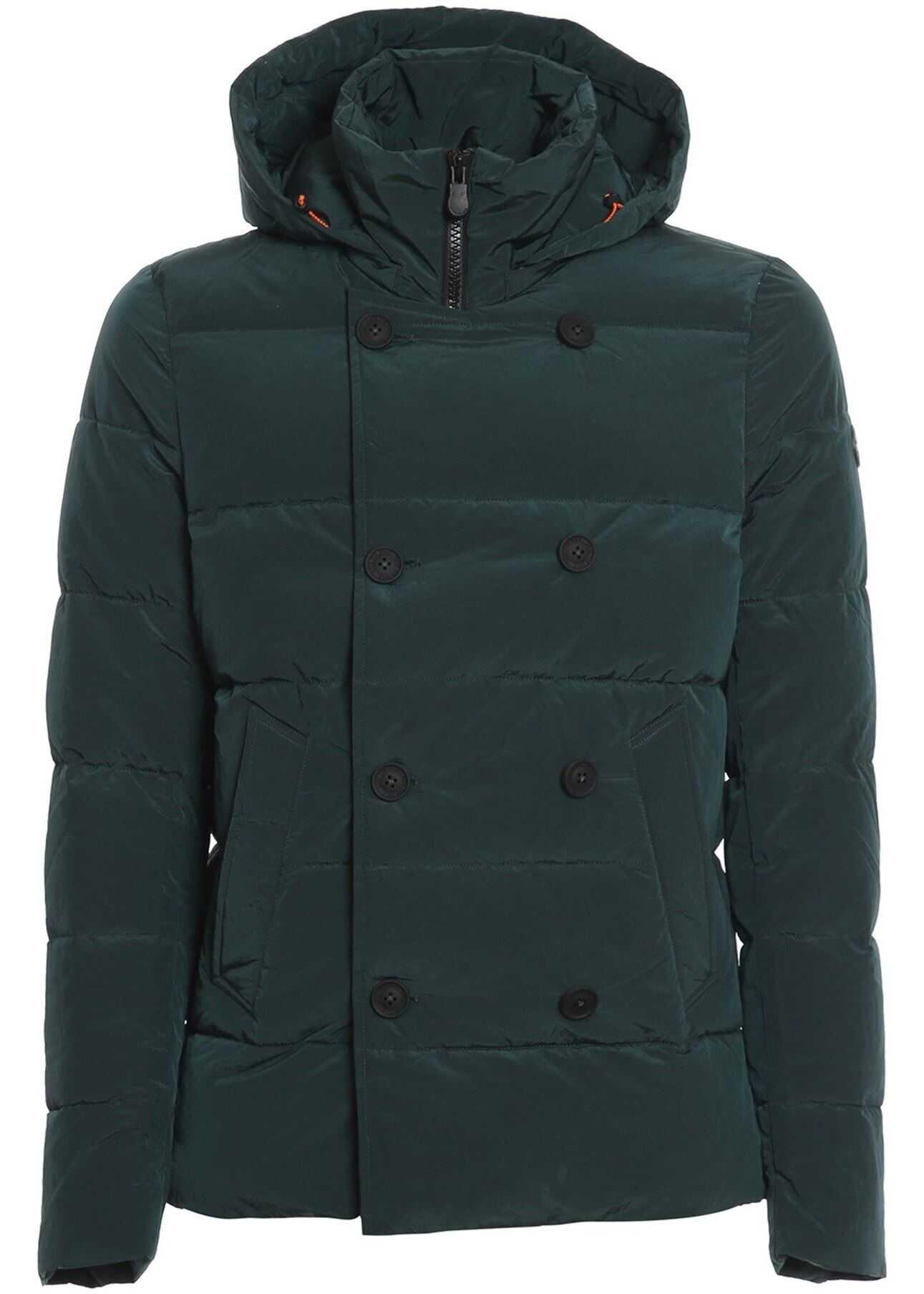 Save the Duck Crêpe Effect Padded Jacket In Green Green imagine