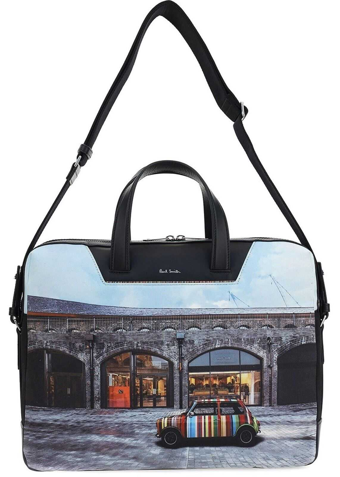 Paul Smith Car Print Laptop Bag M1A-6286E-MCOAL PRI Multi imagine b-mall.ro