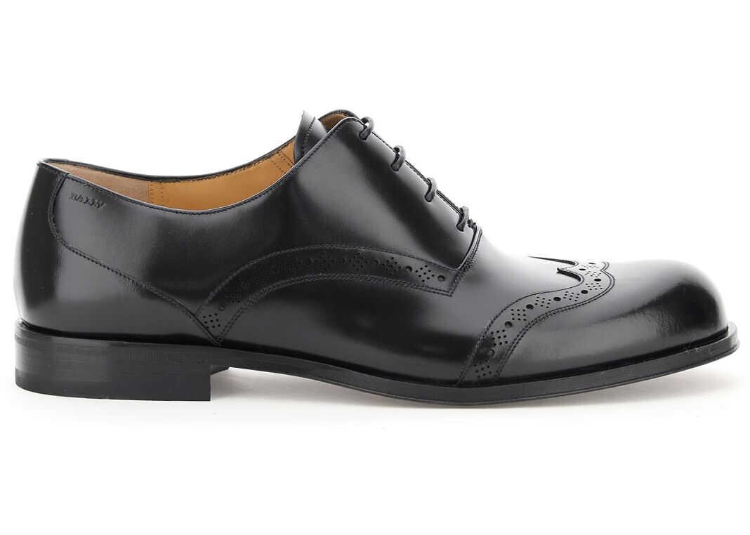 Bally Frenk Lace-Up Shoes 6231459 BLACK imagine b-mall.ro