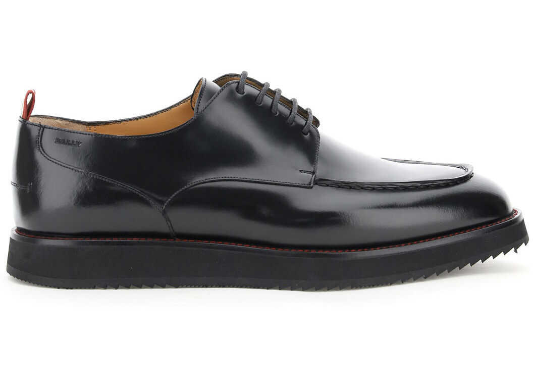Bally Pimion Lace Up Shoes 6234419 BLACK imagine b-mall.ro
